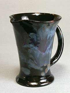 Black/blue Ewenny jug