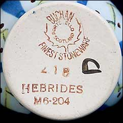 Buchan Hebrides jam pot (mark)