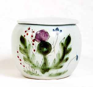Buchan  Thistle lidded pot