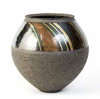 John Wheeldon metal lustre vase