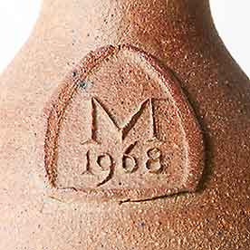John Leach Muchelney bottle (detail)