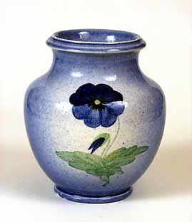 Ault pansy vase