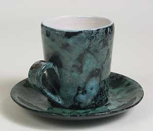 Leaper cup and saucer
