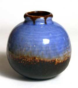 Blue Leaper vase