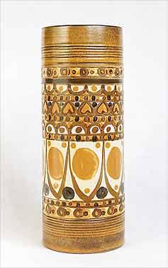 Tall Denby Minaret cylindrical vase