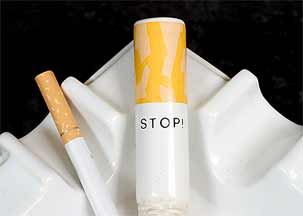 Bonassera STOP! ash tray (detail)