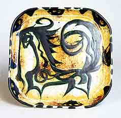 Celtic unicorn dish