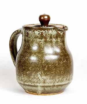 Lidded Aylesford Pottery jug