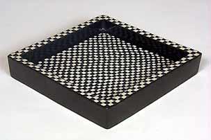 Chequered Gustavsberg square dish