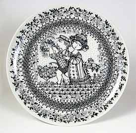 Large Wiinblad plate
