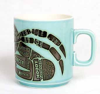 Hornsea zodiac mug - Cancer (side)