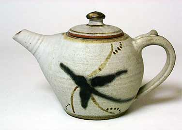 Brush Decorated teapot