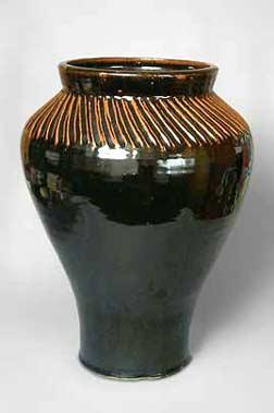 Monumental Aylesford Pottery vase