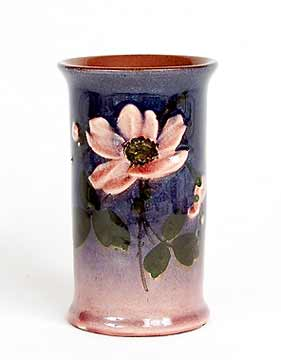 Cylindrical Watcombe vase