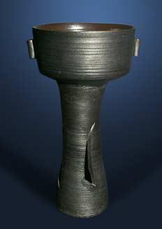 Dark Janet Leach vase