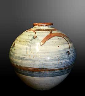 David Leach globe vase