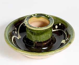 Motoko slipware candle holder