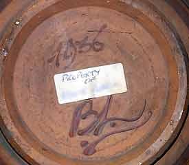 Bernard Leach owl plate (mark)