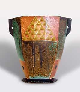 Oestreich handled vase