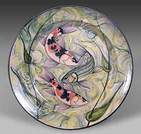 Adrian Brough Koi platter