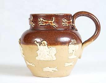 Doulton stoneware handled pot