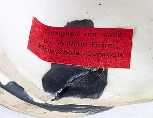 Bill Fisher prototype Celtic cat (label)