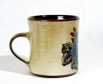 Large floral Chelsea mug (side)