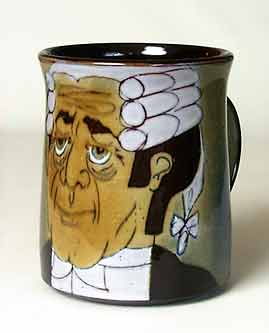 Shaped barrister mug