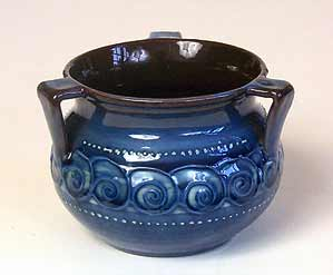 Three-handled Brannam pot
