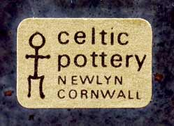 Celtic Medallion vase (label)