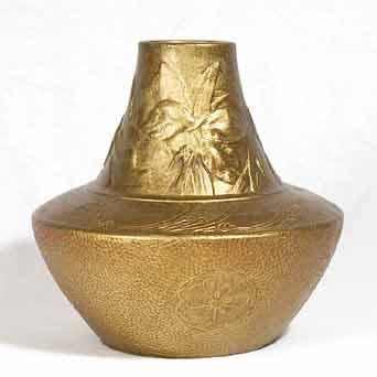 Bretby Delhi Ware vase