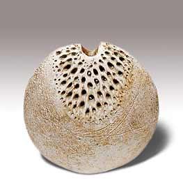 Wallwork pierced vase