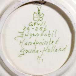 Gouda Jugendstil wall plate (mark)