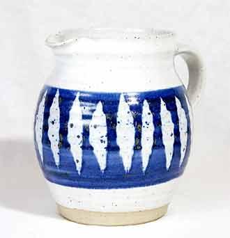Blue Marianne de Trey jug