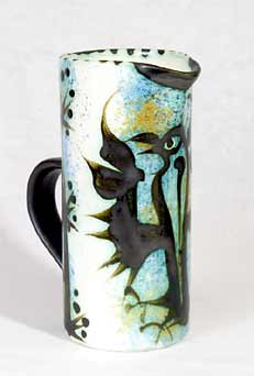 Cylindrical Celtic Folk jug