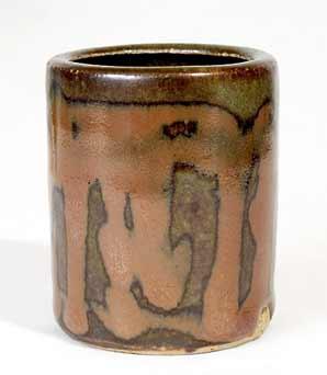 Leach tenmoku cylinder pot