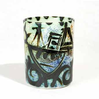 Early Celtic Folk boat mug