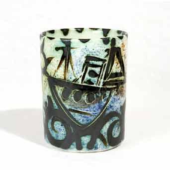 Early Celtic Folk boat mug