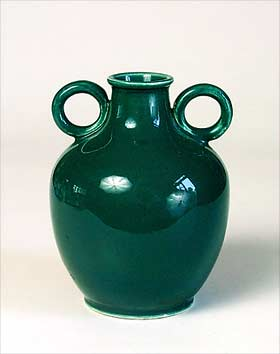 Green Abbotsford vase
