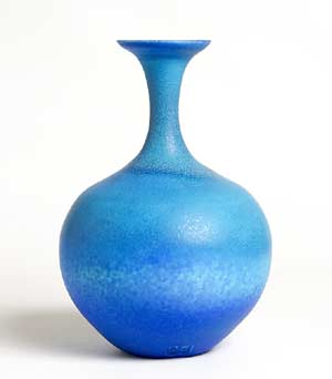 Delan Cookson flared blue bottle vase