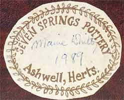 Seven Springs penny-farthing (label)