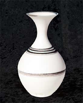 Delan Cookson flared white bottle vase