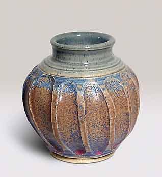 Fluted St Agnes vase