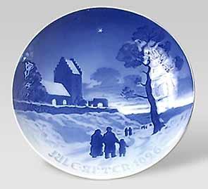 B and G Christmas plate - 1926