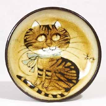 Round Chelsea cat dish