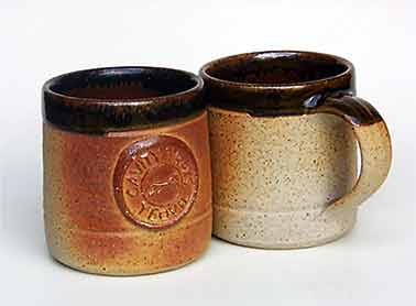Pair of Muchelney mugs
