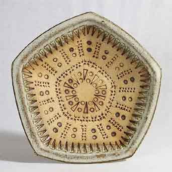 Pentagonal Broadstairs dish