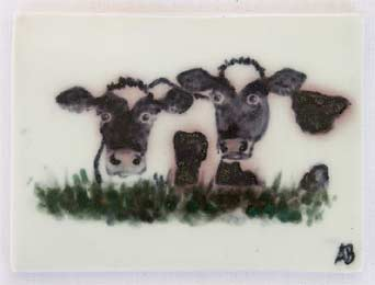 Amanda Brier cow tile