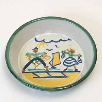 Tintagel fisherfolk bowl II