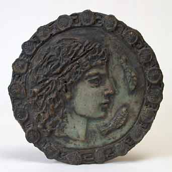 Round Wye face plaque